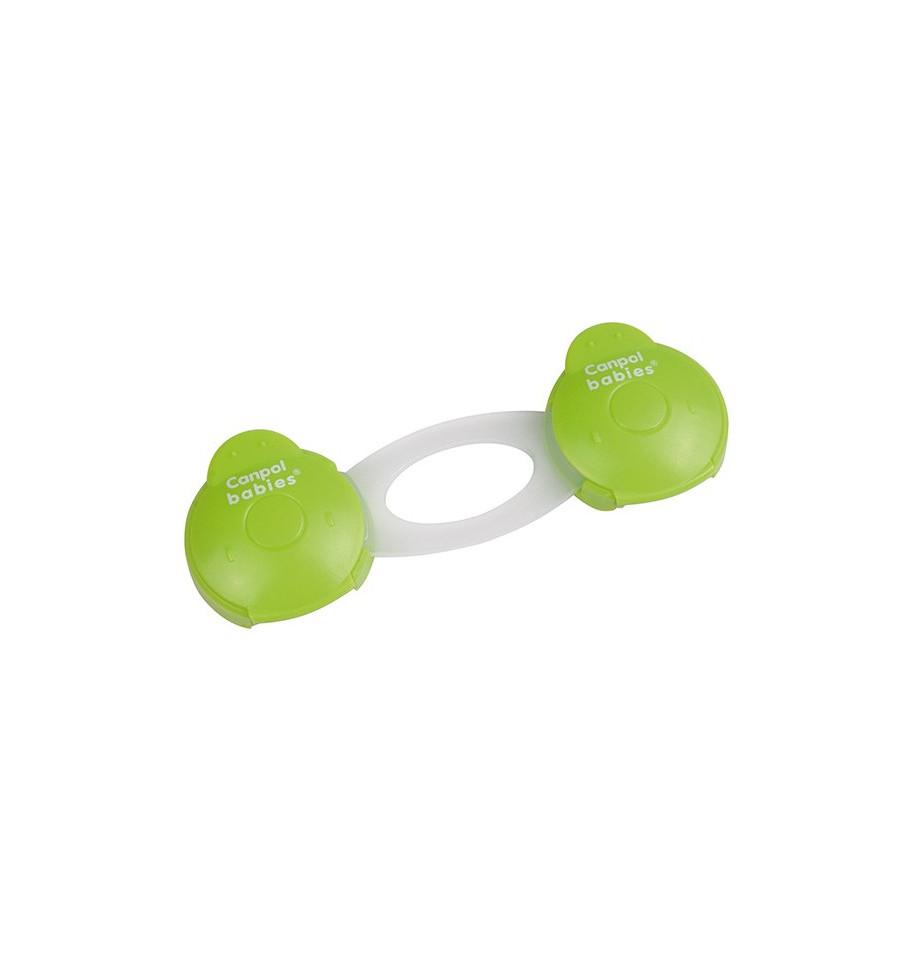 Canpol babies Bezpečnostný viacúčelový uzáver krátky 2 ks Zelená
