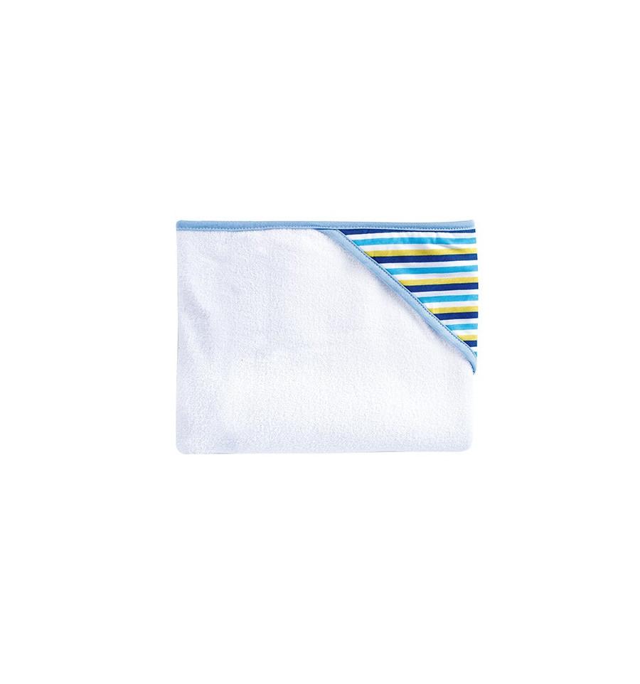 Osuška - bavlna, polyester (80x95cm) Modré prúžky