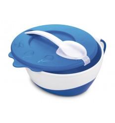 Canpol babies Plastová miska s lyžičkou 9m+ modrá