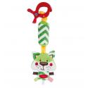 Plyšová hračka závesná s hrkálkou - Lesní priatelia