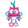 Canpol babies Plyšová hračka Activity Lesní priatelia ružová sova