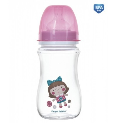 Dojčenská antikoliková fľaša široká EasyStart 240ml 3m+ Toys