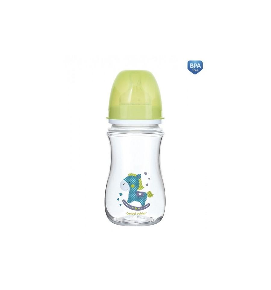 Dojčenská antikoliková fľaša široká EasyStart 240ml 3m+ Toys Svetlá zelená