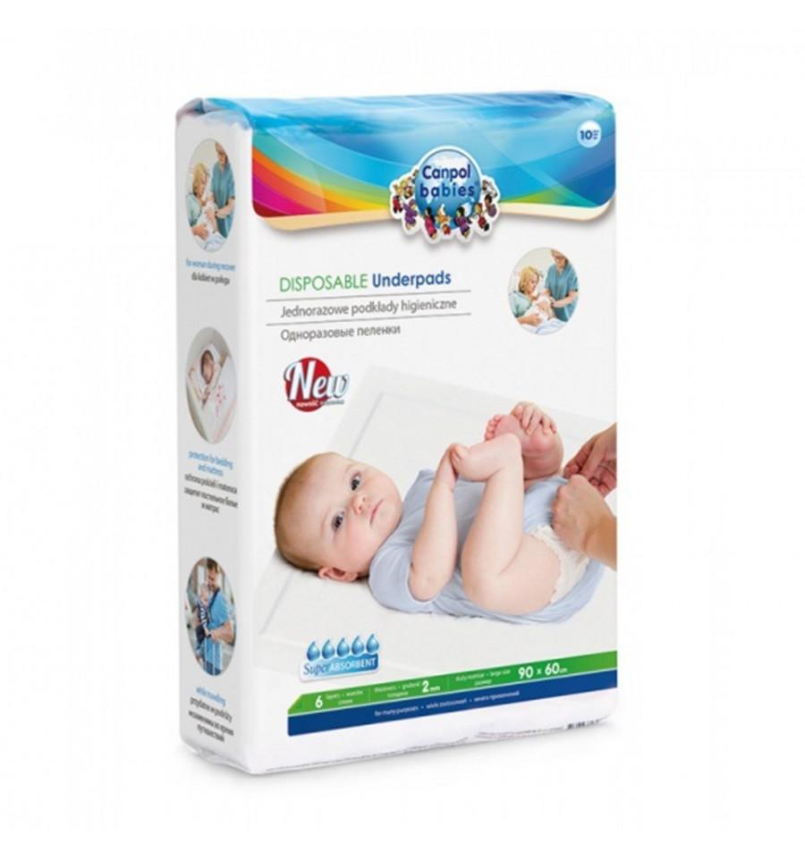 Canpol babies Jednorazové absorpčné hygienické podložky 10 ks SKLADOM