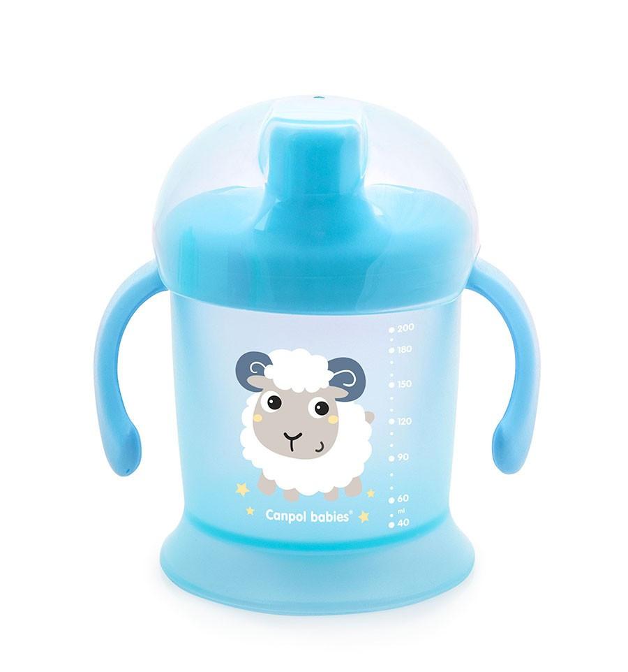 Netečúci hrnček s tvrdým náustkom 200ml 9m+ Bunny&Company Svetlo modrá