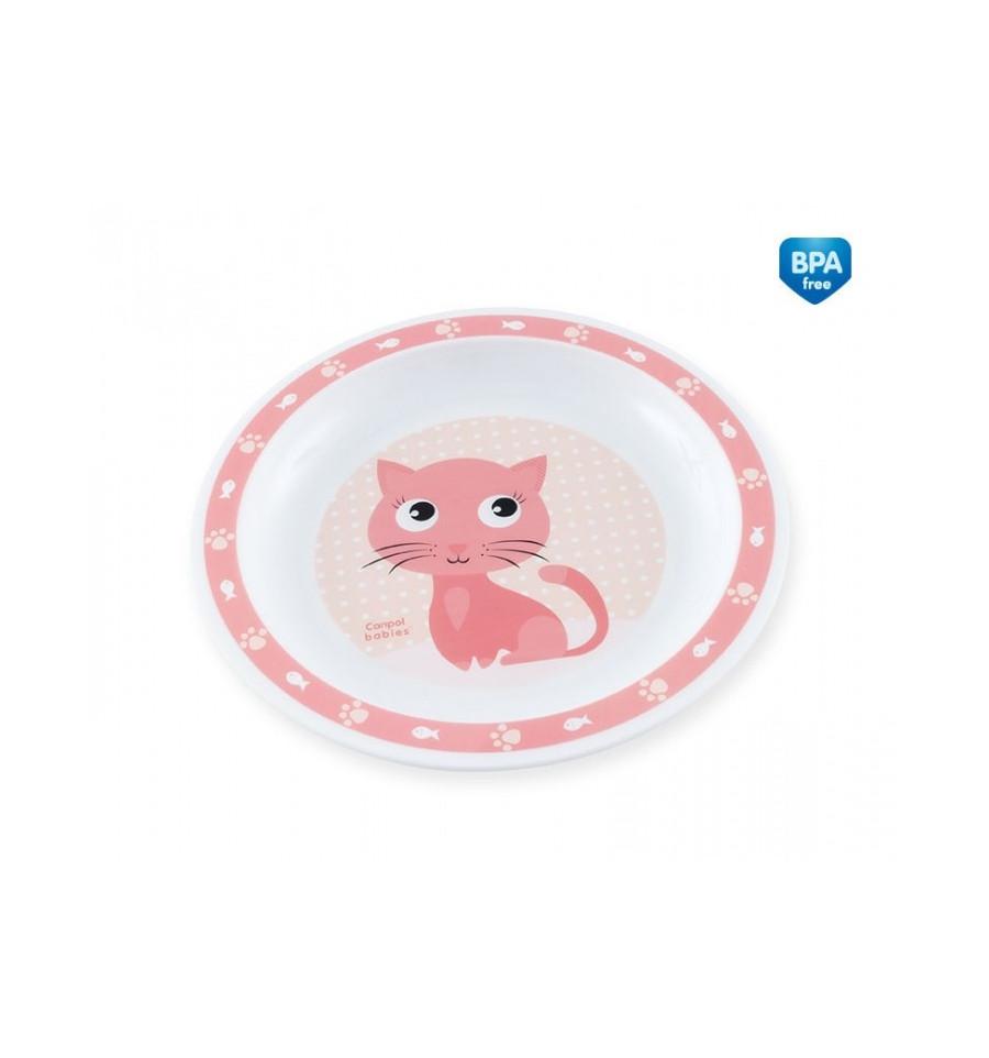 Canpol babies Plastový tanierik Cute Animals 9m+