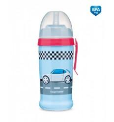 Športová fľaša netečúca Závodné autá 350ml 12m+
