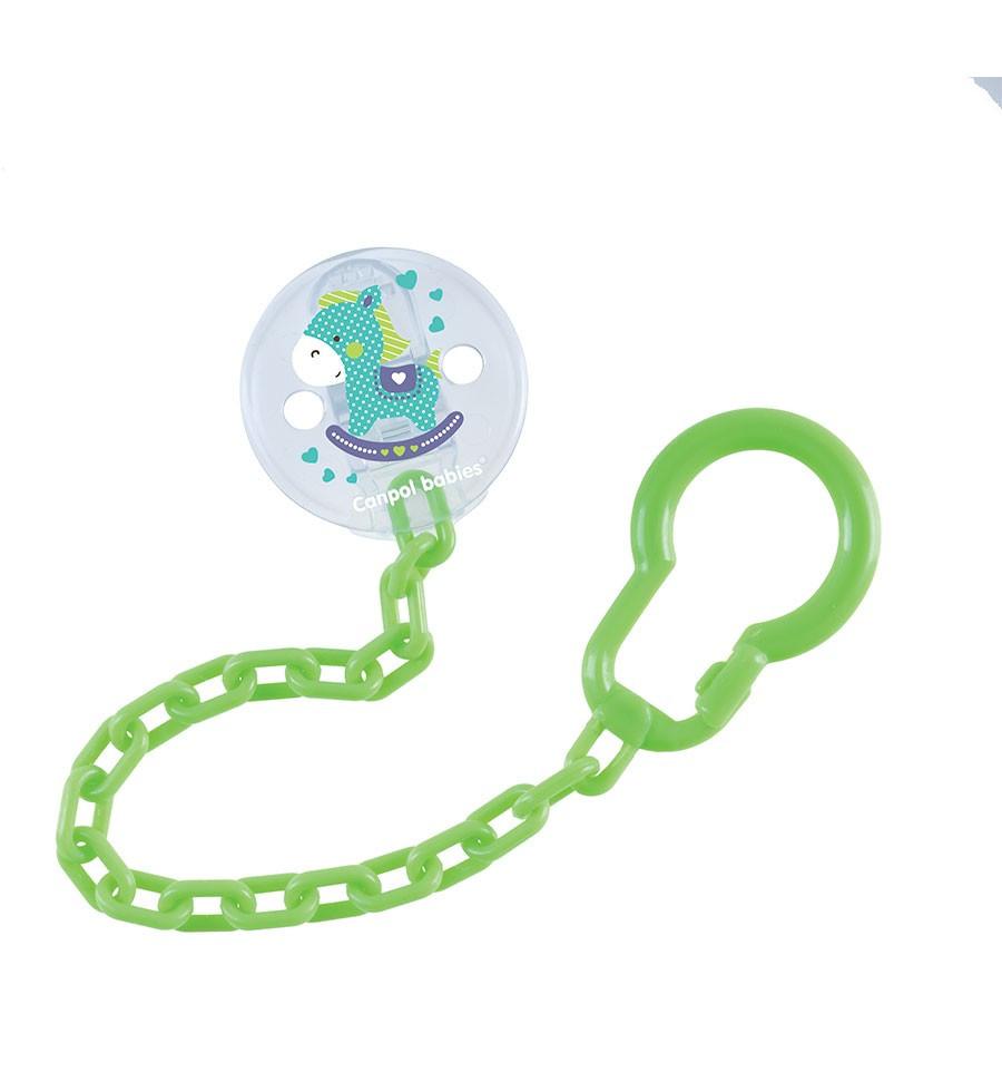 Canpol Babies Retiazka na cumlík - Toys Zelená SKLADOM