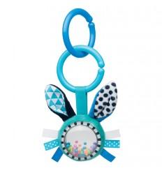 Plyšová hračka s hrkálkou 0m+ Zig Zag modrý zajko