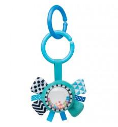 Plyšová hračka s hrkálkou 0m+ Zig Zag modrá