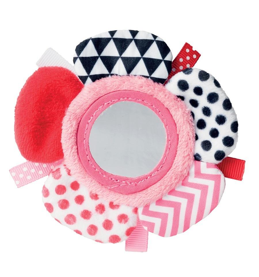 Plyšová hračka so zrkadielkom 0m+ Zig Zag ružová