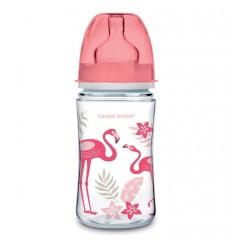 Dojčenská antikoliková fľaša široká EasyStart 240 ml 3m+ Džungľa koralová