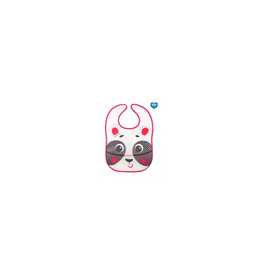 Canpol babies Podbradník plastový mäkký s vreckom Hello Little béžový