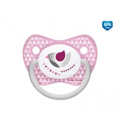 Canpol babies cumlík utišujúci Let´s Celebrate - silikón anatomický A 0-6 m ružový
