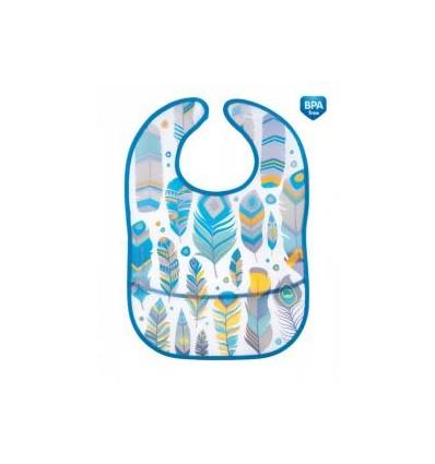 Canpol babies podbradník plastový mäkký s vreckom Wild Nature tyrkysový