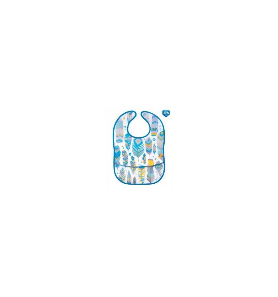 Canpol babies podbradník plastový mäkký s vreckom Wild Nature tyrkysový SKLADOM