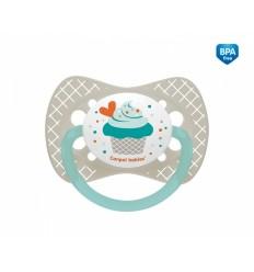 Canpol babies cumlík utišujúci Cupcake - silikón symetrický A 0-6 m sivý