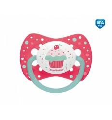 Canpol babies nyugtató cumi Cupcake - szilikon, szimmetrikus C 18 hó+ rózsaszín