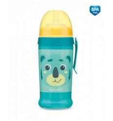 Canpol babies Športová fľaša netečúca Hello Little koala 350 ml 12 m+ tyrkysová