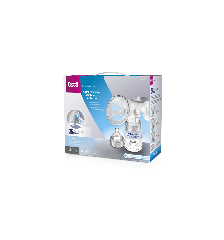 Lovi Expert 3D odsávačka materského mlieka manuálna