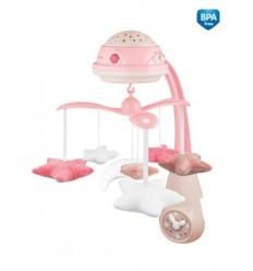 Canpol babies Elektromos zenélő körforgó vetítővel - rózsaszín