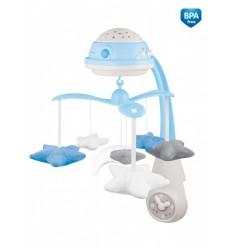 Canpol babies Elektromos zenélő körforgó vetítővel - kék