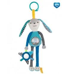 Canpol babies Plyšová hračka s hrkálkou a zrkadielkom 0m+ Zig Zag