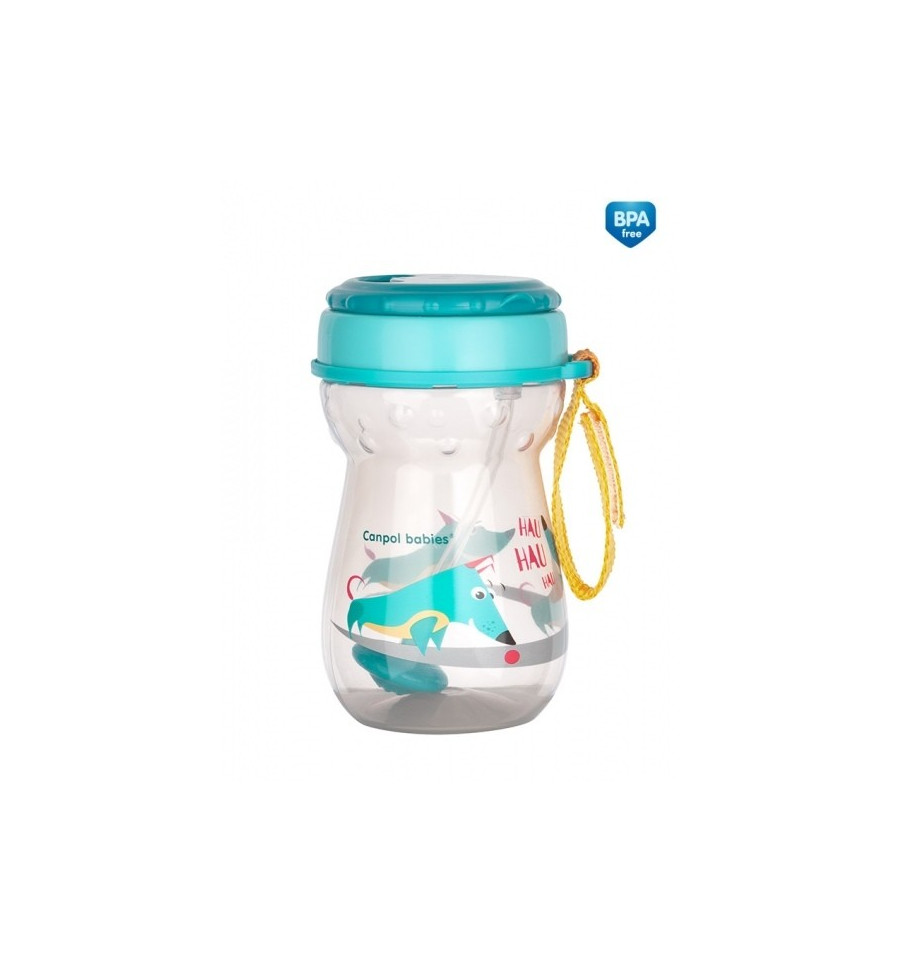 Canpol babies Inovatívna športová fľaša so slamkou Flip-Top 350 ml