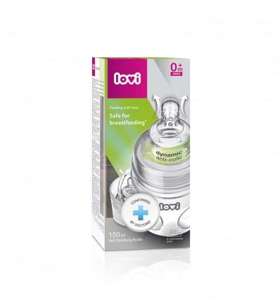 Lovi samosterilizujúca dojčenská fľaša SuperVent 150 ml 0m+
