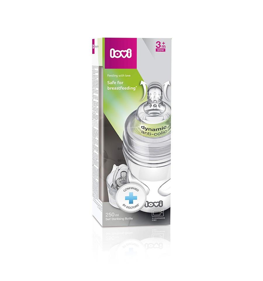 Lovi samosterilizujúca fľaša SuperVent 250 ml 3m+