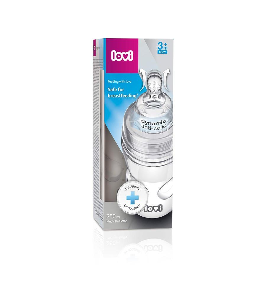 Lovi dojčenská fľaša SuperVent Medical+ 250 ml 3m+