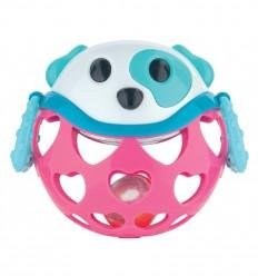 Canpol babies interaktívna hračka s hrkálkou ružový psík
