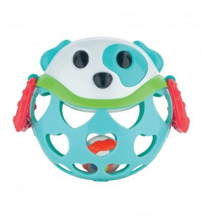 Canpol babies interaktívna hračka s hrkálkou tyrkysový psík