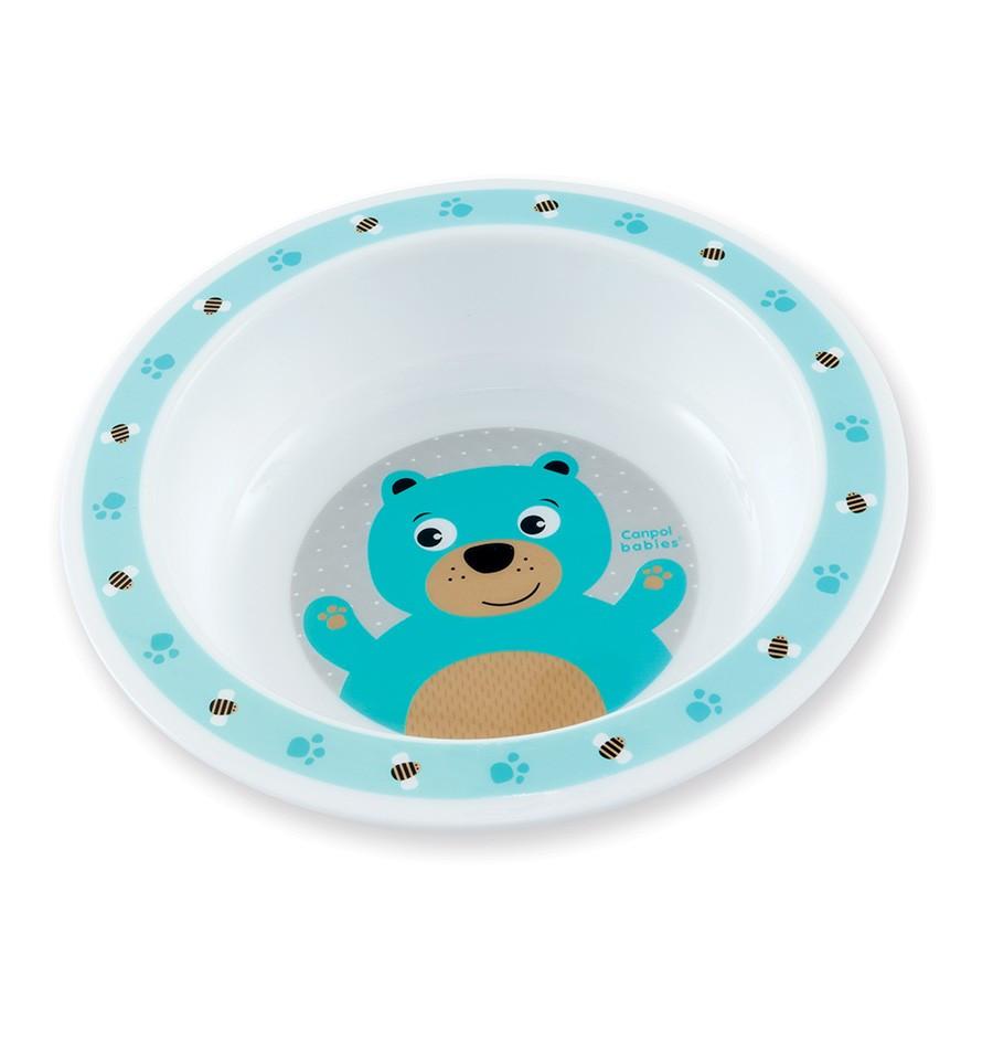 Canpol babies Plastová miska Cute Animals 270 ml 4m+ Macko SKLADOM