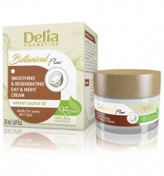 Delia Botanical flow regeneračný a vyhladzovací denný a nočný krém s kokosovým olejom 50 ml