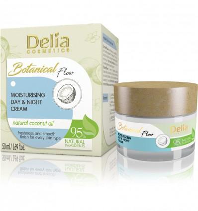 Delia Botanical flow hydratačný denný a nočný krém s kokosovým olejom 50 ml