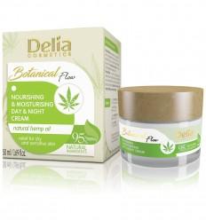 Delia Botanical flow tápláló és hidratáló nappali és éjjeli arckrém kannabisz olajjal 50 ml