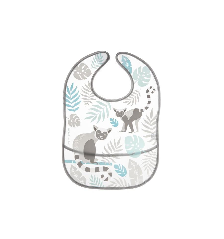 Canpol babies podbradník plastový mäkký s vreckom Džungľa sivý SKLADOM