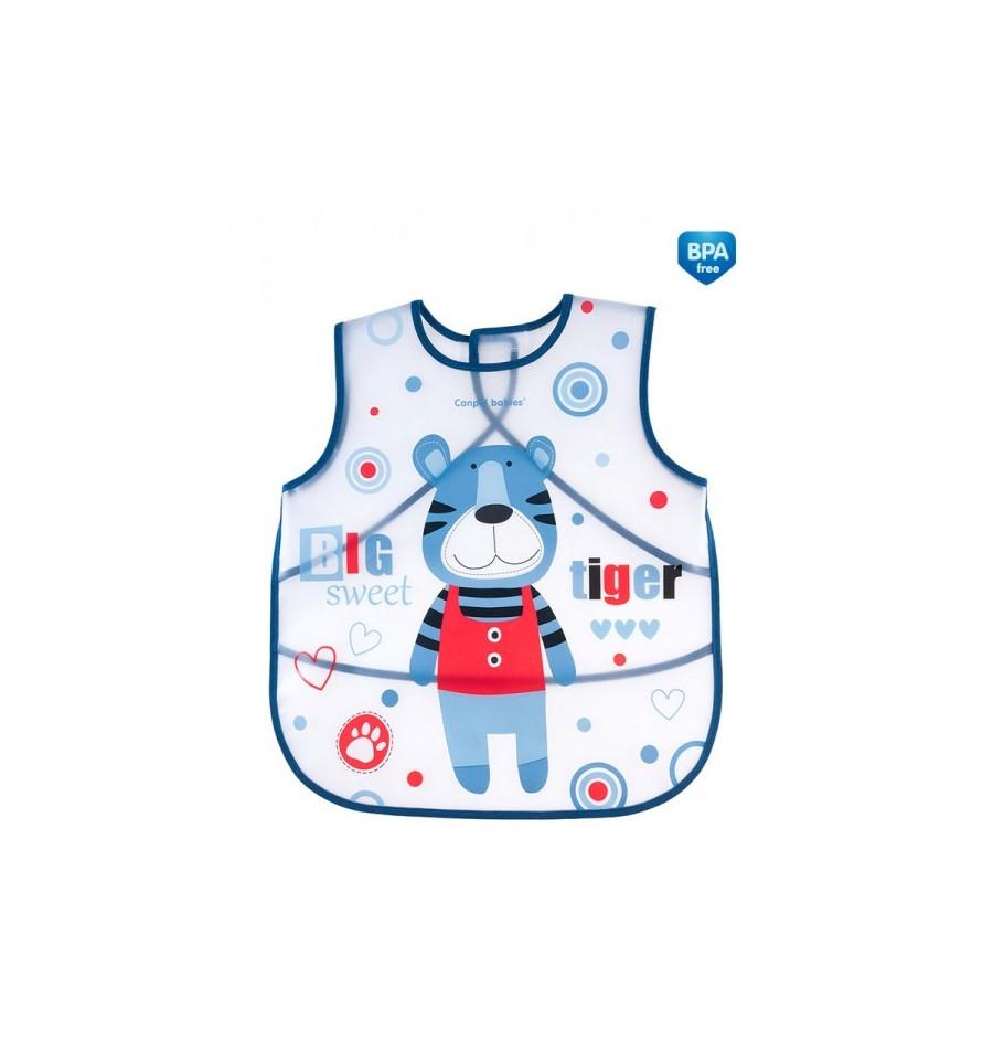Canpol babies Zásterka plastová mäkká Puppets modrá