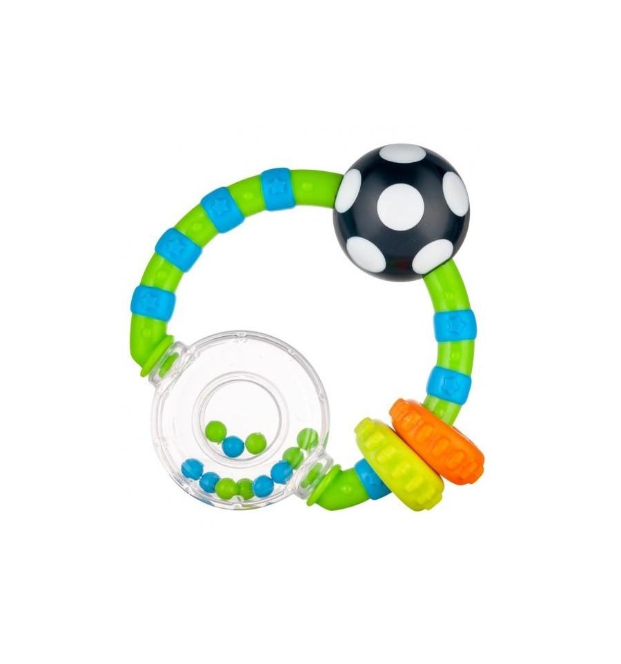 Canpol babies Hrkálka s farebnými krúžkami Svetlá zelená SKLADOM