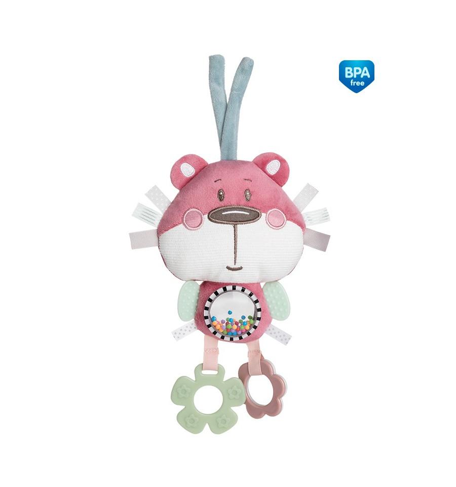 Canpol babies Plyšová hračka závesná ružová 0m+ Pastel friends