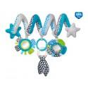 Canpol babies Interaktívna hračka na postieľku alebo kočík modrá ZigZag
