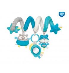 Canpol babies Interaktívna hračka na postieľku alebo kočík tyrkysová Pastel friends