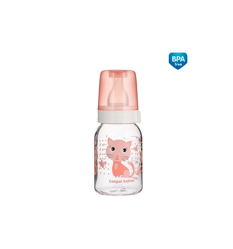 Canpol babies Dojčenská fľaša plast Cute Animals 120 ml 3m+
