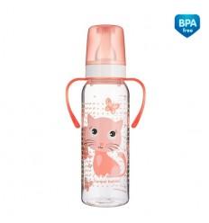 Canpol babies Cumisüveg fogókkal Cute Animals műanyag 250ml 12hó+