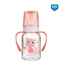 Canpol babies cumisüveg fogókkal Cute Animals 120ml 3hó+