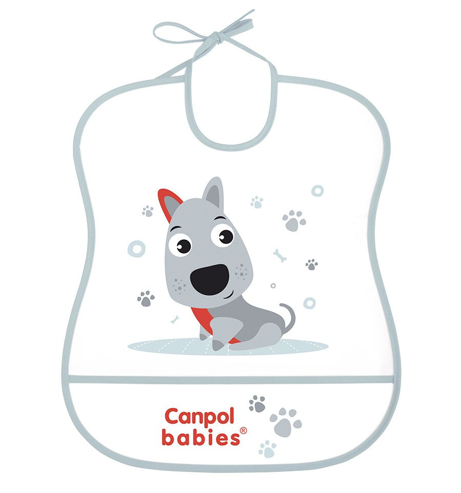 Canpol babies Podbradník Cute animals plastový mäkký Pes SKLADOM