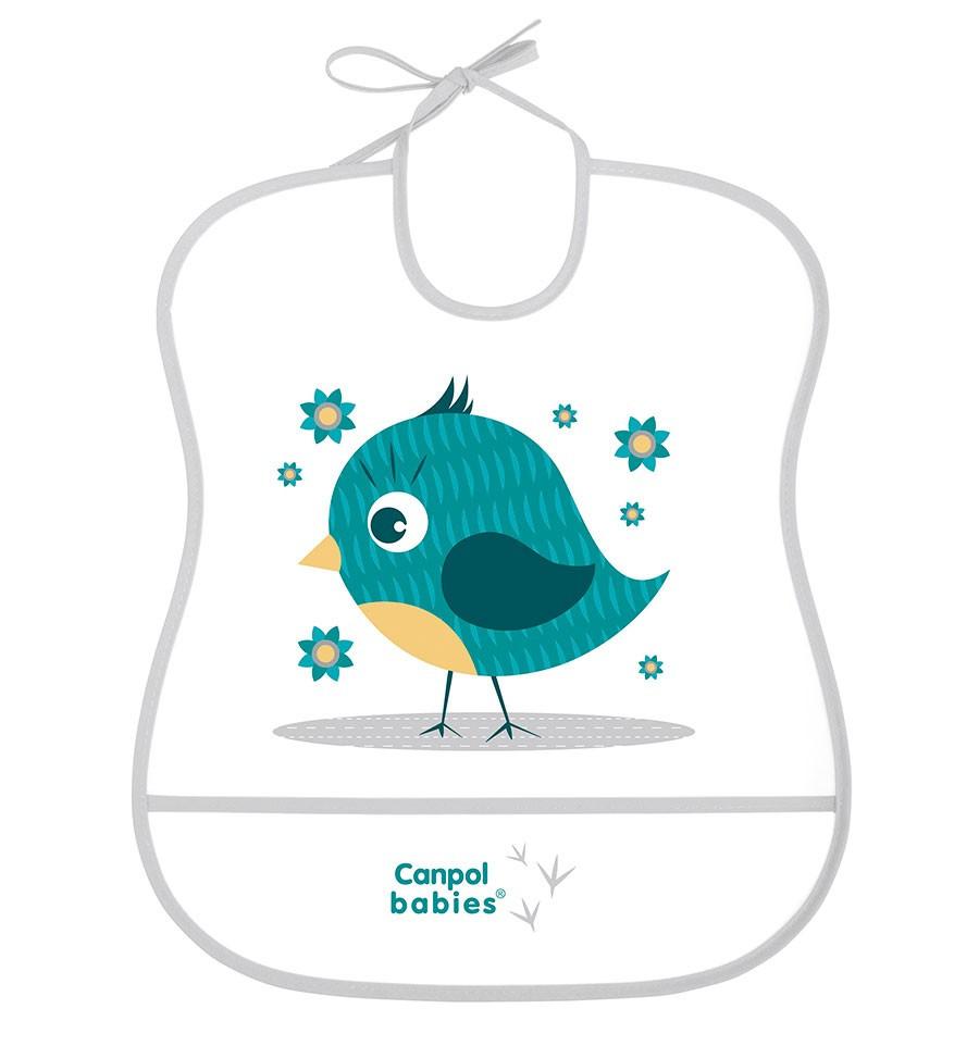 Canpol babies Podbradník Cute animals plastový mäkký Vtáčik SKLADOM