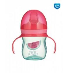 Canpol babies Tréningový hrnček so silikónovým náustkom 150 ml So Cool ružový