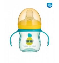 Canpol babies Tréningový hrnček so silikónovým náustkom 150 ml So Cool tyrkysový